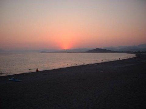 Calis Beach Fethiye zonsondergang